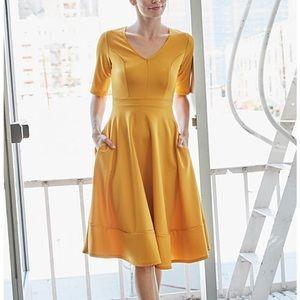 NEW Mustard Yellow Dress